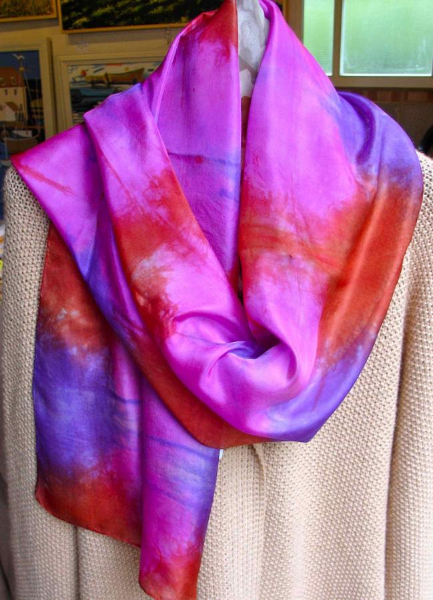 dyed-scarf